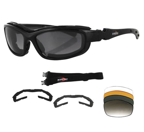 Bobster Road Hog II Convertible and Interchangeable Lens Goggle Sunglasses