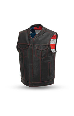 Born Free Motorcycle Leather Club Vest