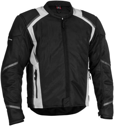 Firstgear Mesh Tex Jacket Black Front