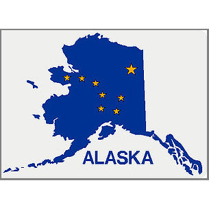 Reflective Alaska Sticker