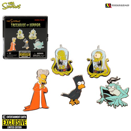 Simpsons Treehouse of Horror Pin Set - Entertainment Earth Exclusive