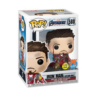 Avengers: Endgame I Am Iron Man Glow-in-the-Dark Deluxe Pop! Vinyl Figure - Previews Exclusive