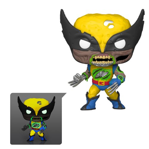 Marvel Zombies Wolverine Glow-in-the-Dark Pop! Vinyl Figure - Entertainment Earth Exclusive