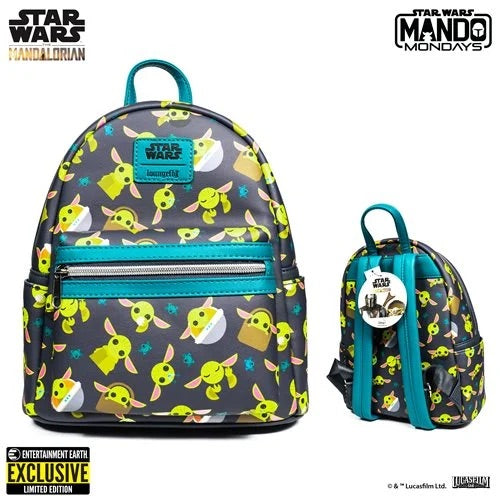 Star Wars The Mandalorian The Child Mini-Backpack - Entertainment Earth Exclusive
