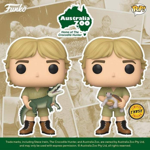 Crocodile Hunter Steve Irwin Pop! Vinyl Figure - Chase and Common Bundle