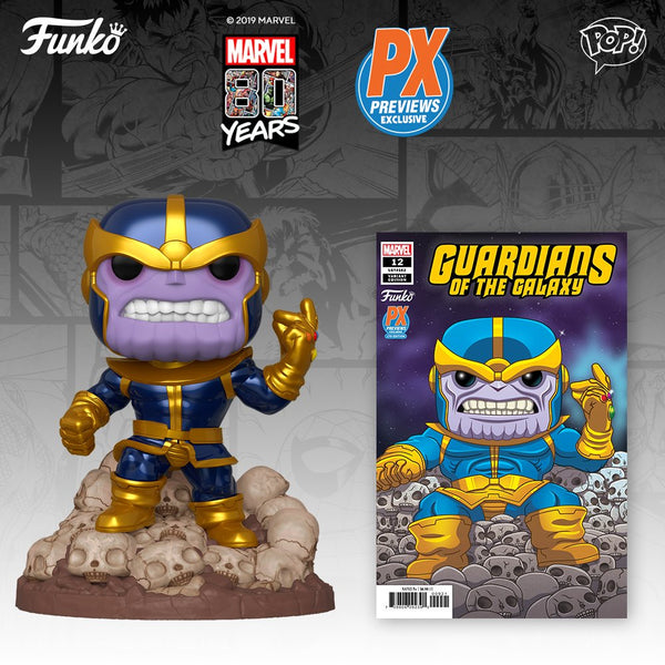 Comic Bundle - Guardians of the Galaxy Marvel Heroes Thanos Snap 6-Inch Pop! Vinyl Figure - Previews Exclusive