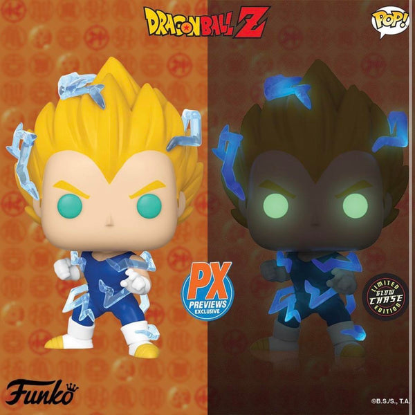 Dragon Ball Z Super Saiyan 2 Vegeta Pop! Vinyl Figure - PX Previews Exclusive - Chase Bundle