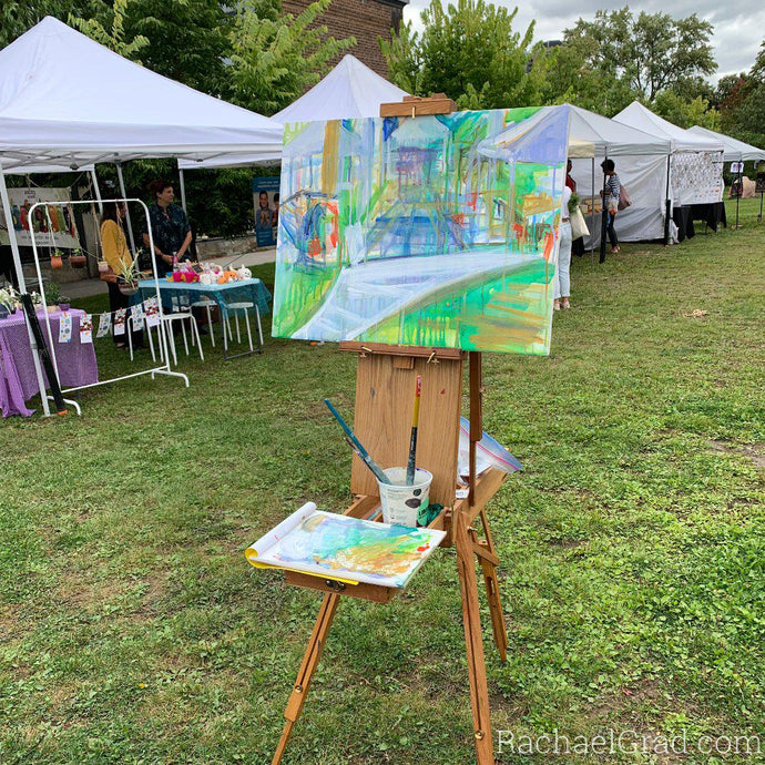 Abstract Landscape Painting at Wychwood Barns, Toronto