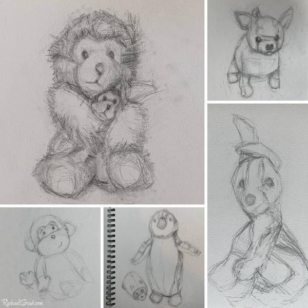 Back to Sketchbook Drawings of Toys