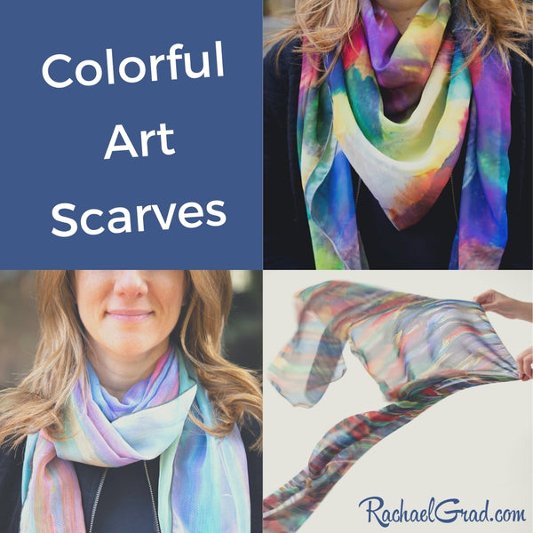 Art Scarves in 100% Silk