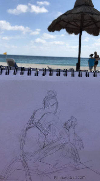 Quick Drawings on the Beach