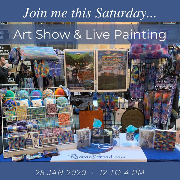 Join me this weekend for Live Painting!