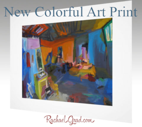 New York Studio Interior Artwork Now Available as an Art Print by artist Rachael grad