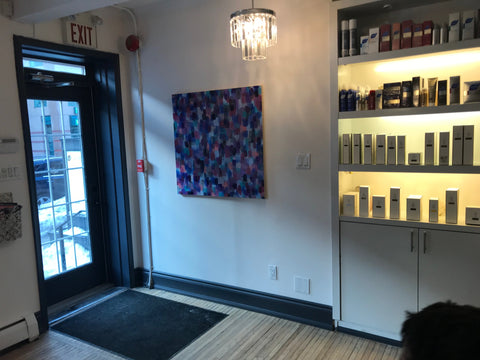 2019-03-22 blog original abstract paintings by rachael grad artist on view at peter paul and company yorkville toronto winter 2019 black geometric paintings 4