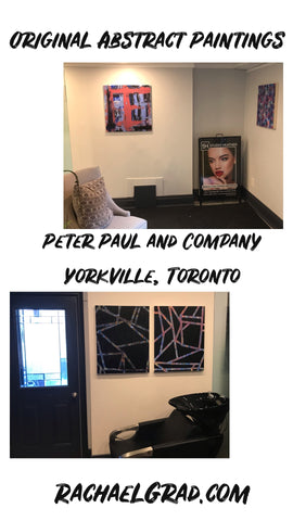 2019-03-22 blog original abstrat paintings by rachael grad artist on view at peter paul and company yorkville toronto winter 2019