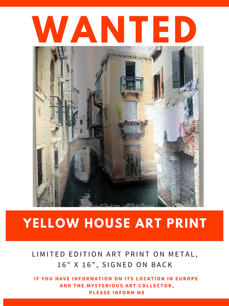 Wanted: Info on Mysterious European Buyer! yellow house art print missing rachael grad artist