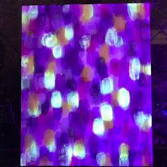 2019-04-01 glow in the dark art day and night rachael grad artist acrylic painting original artwork night
