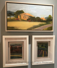 original landscape paintings of provence france by artist rachael grad artwork oil painting