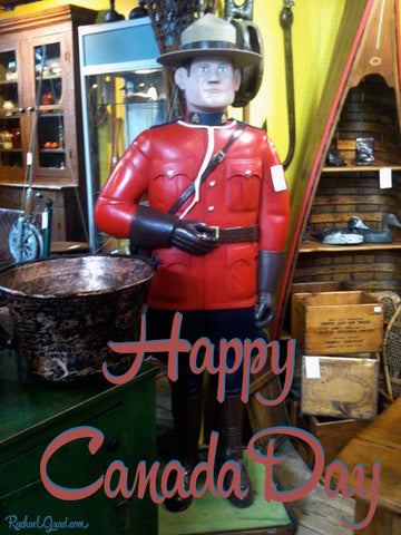 happy Canada Day Mountie sculpture RAahael Grad Art & Gifts