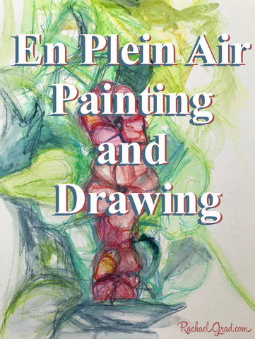 en plein eir Painting & Drawing Outside in Summer by Artist Rachael Grad