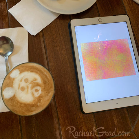 Coffee Art & Digital Drawing Latte Face Cocoalatte Cafe Toronto Rachael Grad