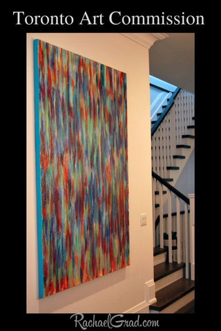 Toronto Art Commission by Artist Rachael Grad Original Color Abstract Painting