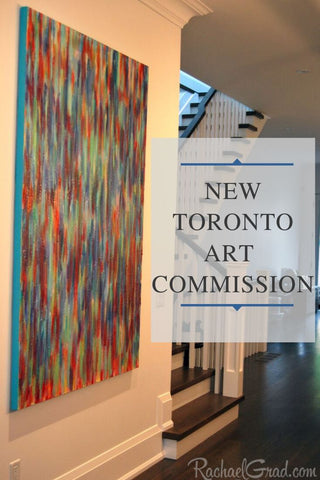 New Toronto Art Commission by artist Rachael Grad, Colorful original painting