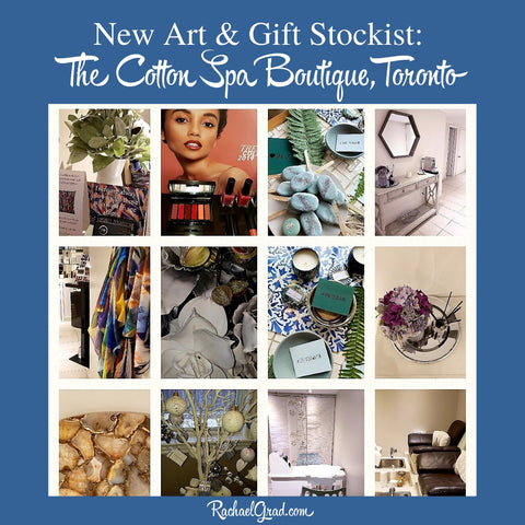 new art and gift stockist The Cotton Spa Boutique for artist Rachael Grad