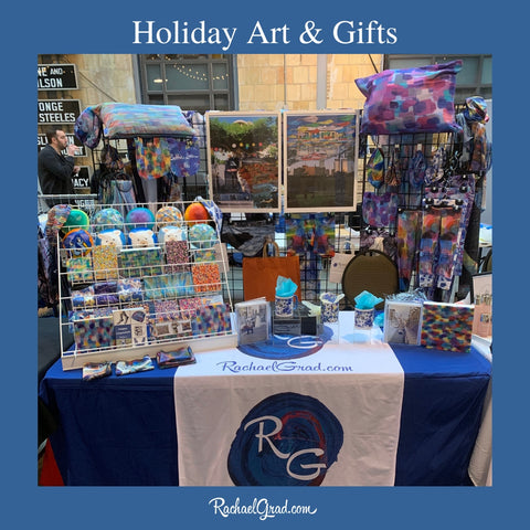 2019-12-01 noshfest booth 2019 holiday art and gifts by rachael grad