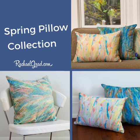 Spring Pillow Collection by Toronto Artist Rachael Grad