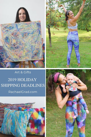Holiday Shipping Deadlines for Art & Gifts from Artist Rachael Grad