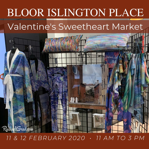 Rachael Grad Art and Gifts at Bloor Islington Place Valentine's Sweetheart Pop Up Market in Etobicoke Toronto