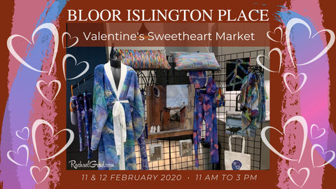 Bloor Islington Place Sweetheart Pop Up Market with Rachael Grad Art