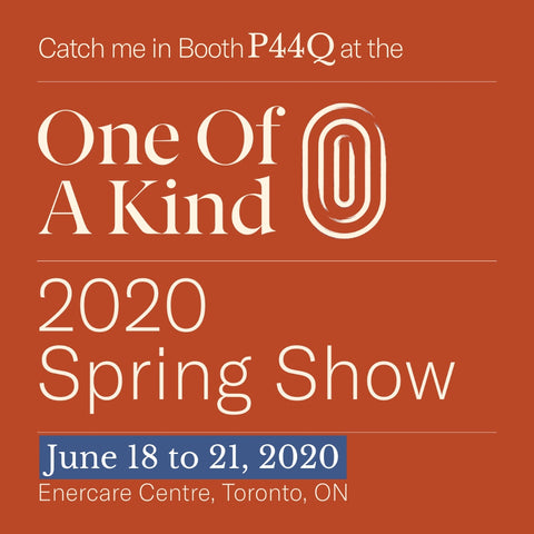 spring one of a kind show June 2020 in Toronto with artist Rachael Grad