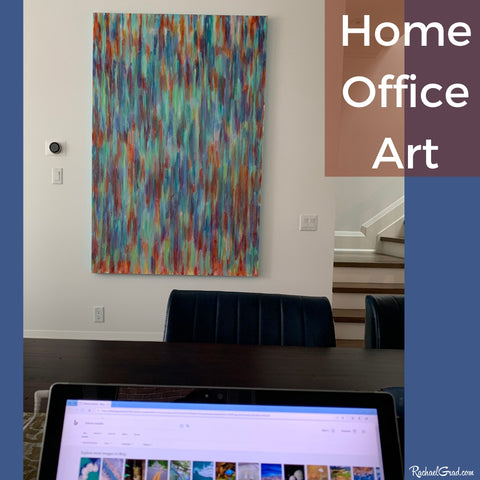 home office original painting commission by Toronto Artist Rachael Grad