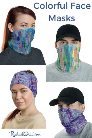 Full Coverage Face Masks by Artist Rachael Grad can also be hair accessories