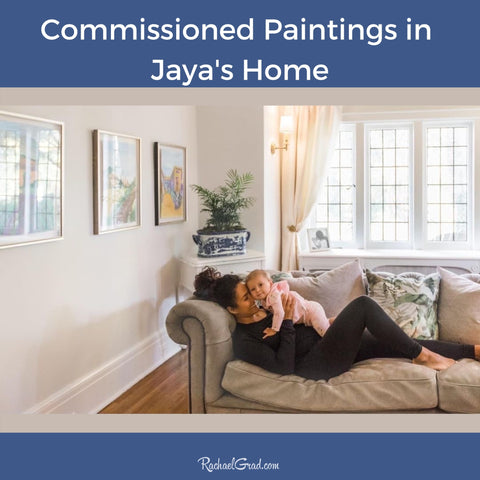 Commissioned Paintings in Toronto Home by Canadian Artist Rachael Grad