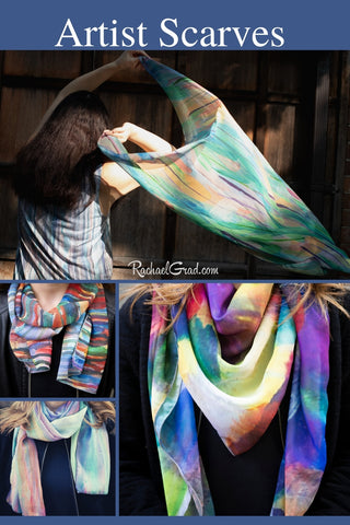 Art Scarves Locally Made in Canada from Toronto Artist Rachael Grad