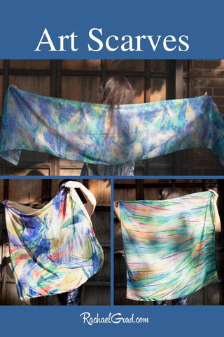 Art Scarves made in Canada by Toronto Artist RACHAEL GRAD