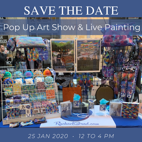 Save the Date: January 25th, 2020 Art Show and Sale with Artist Rachael Grad