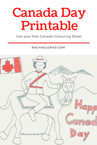 Canada day printable by Rachael grad art RCMP Mountie Canadian flag happy