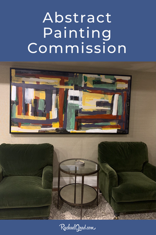 Abstract Painting Commission for Toronto Home by Artist Rachael Grad