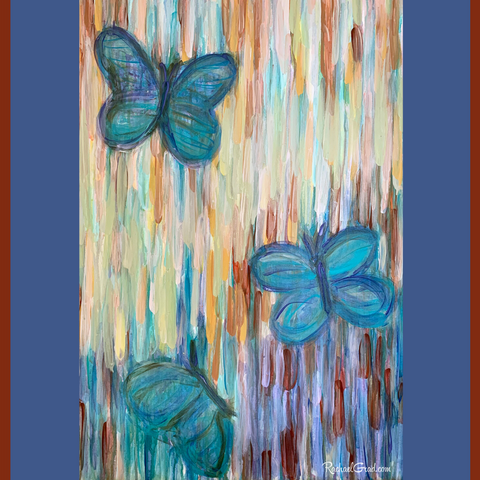 Butterfly Painting for Spring by Artist Rachael Grad