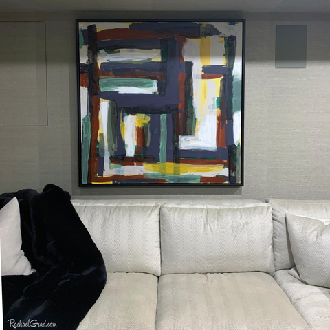 Large Painting Commission for Toronto Living Room by Artist Rachael Grad