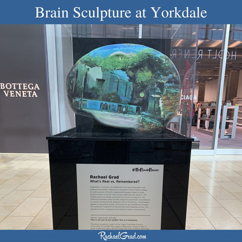 Brain Sculpture by Toronto Artist Rachael Grad on view in Yorkdale Shopping Centre