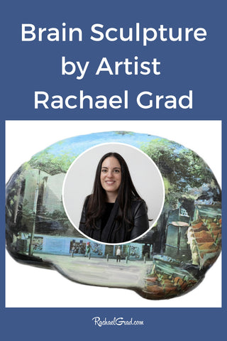 Brain project sculpture 2020 by Toronto Artist Rachael Grad with artist photo