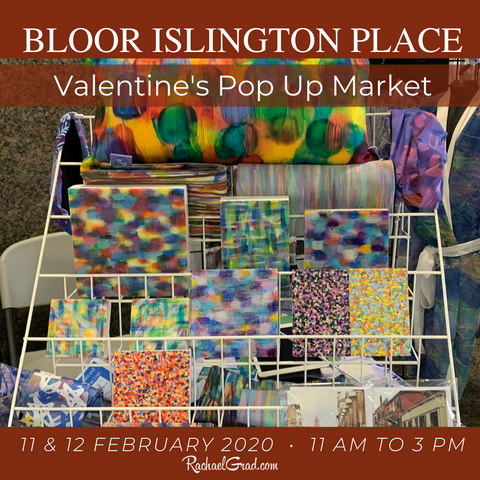 Artist Rachael Grad at the Bloor Islington Place Valentine's Market