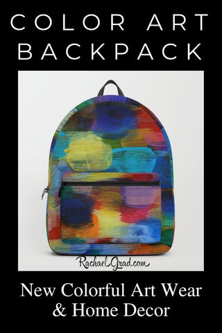 Color Art Backpack: New Colorful Art Wear & Home Decor by Artist Rachael Grad