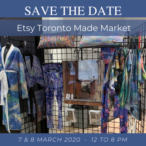 Save the Date for Etsy Toronto Made Market with Canadian Artist Rachael Grad