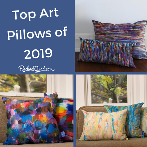Top Colorful Pillows in 2019 by Toronto Artist Rachael Grad